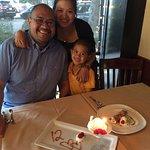 Cannoli and cake and ice cream