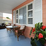 Relax or have a meal on the wide verandah