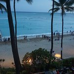 Waikiki in evening from room balcony