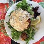 Crab meat stuffed portobello mushroom