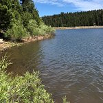 Sawmill Lake can be reached by hiking up the mountain at Northstar California.