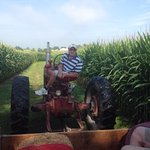 farmer Bob on a hayride