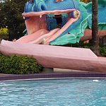 View of the pool slide.
