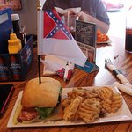 The General Lee sandwich - comes with flag