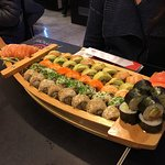 Original y deliciosa presentación de Sushi