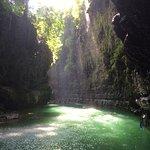 De green canyon en de bootjes waarmee naar de canyon wordt gevaren