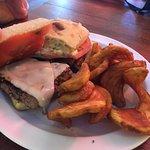outstanding caprese burger & fries