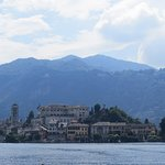 From Orta town - towards the island