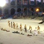 Gladiators during show