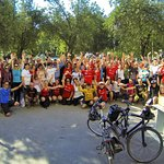 Cycling Romania group photo in Bolintin Vale (July 2016)