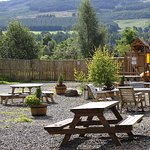 Sit outside and enjoy the beautiful surroundings and kids play area