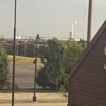 Baseball stadium other side of I-30; (using partial zoom on smartphone)