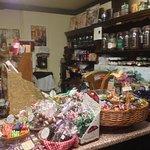 Adjacent old fashioned sweet shop till area