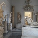 The Dying Gaul and other marble statues
