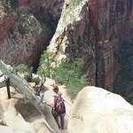 The descent from Angel's Landing