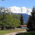 Au sortir de la tente. Magnifique Mont-Blanc !