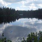 Reflets sur l'étang de la Gruère