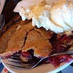 Cherry pie with ice cream - I loved the crust!
