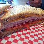 Turkey and ham sandwich