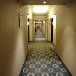 Pasillo entre las habitaciones