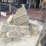 Sand Sculpture. Always see these at the beginning of summer season all over the Cape.