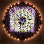 Beautiful stained glass dome