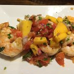 Cilantro Shrimp with Mango Salsa (close-up)