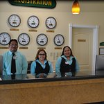 Our front desk staff