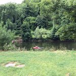 The campsite is right on the River Wye, and has its own canoe access point.