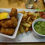 wholetail breaded scampi meal 9.45livres