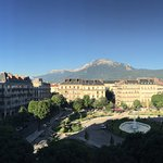 How's about that then? Looking out to Place Victor Hugo, & the Alps!