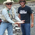 A great day fly-fishing the Yellowstone river
