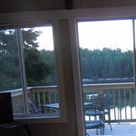 Looking out of the livingroom toward the deck