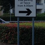Tesco Car Park Sign - Do not believe it as you will be fined £85