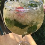 Mojito. Magnifico :) warm welcome here. Highly recommended!