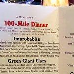 100-Mile Dinner Menu