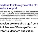 Closure of Mendoza Airport