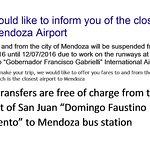Closure of Mendoza Airport
