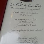 Photo de Le Plat à Oreilles