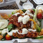 Barbecue chicken salad.