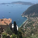 View across the coast from Eze