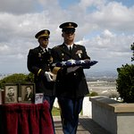 We said farewell to my husband's mother and father at Fort Rosecrans.