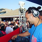 Djing out on the deck!