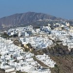 View of Fira from balcony