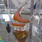 Glassworks by Royal Navy Dockyard . about $35-$45 for a small fish & sail boat