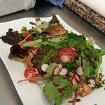 Salade de riz aux légumes et poulet mariné
