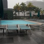 Pool Side With Rain