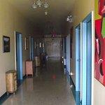 le corridor menant aux chambres