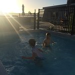 My 5 and 6 year old loving the 2 warm heated pools