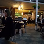 Open dining under the awnings of Mooloolaba